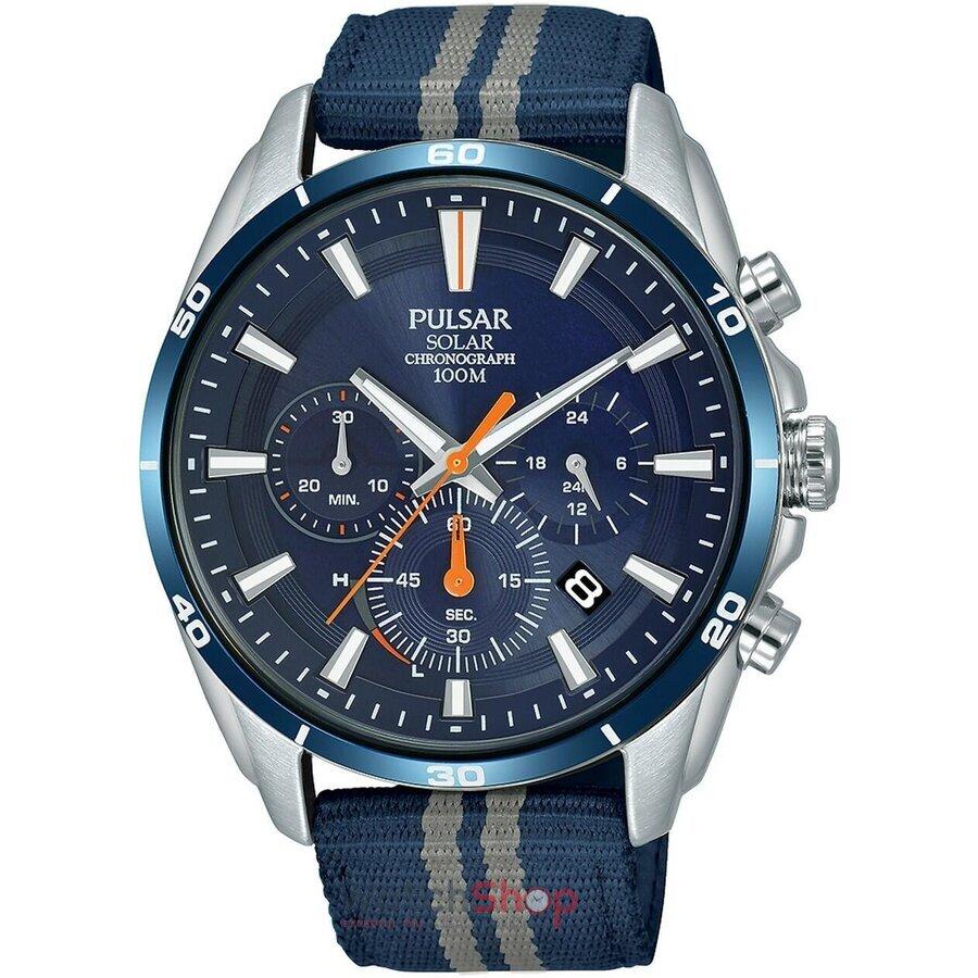 Ceas Pulsar Regular PZ5089X1 Solar Cronograf original barbatesc
