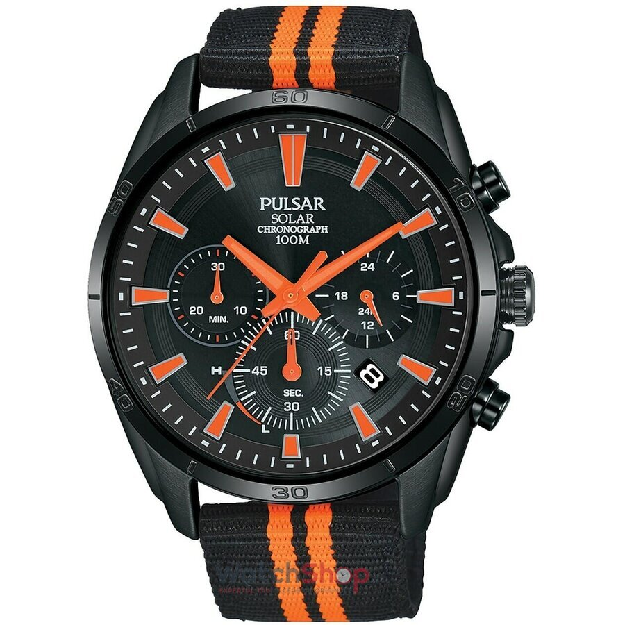 Ceas Pulsar Regular PZ5093X1 Solar Cronograf original barbatesc