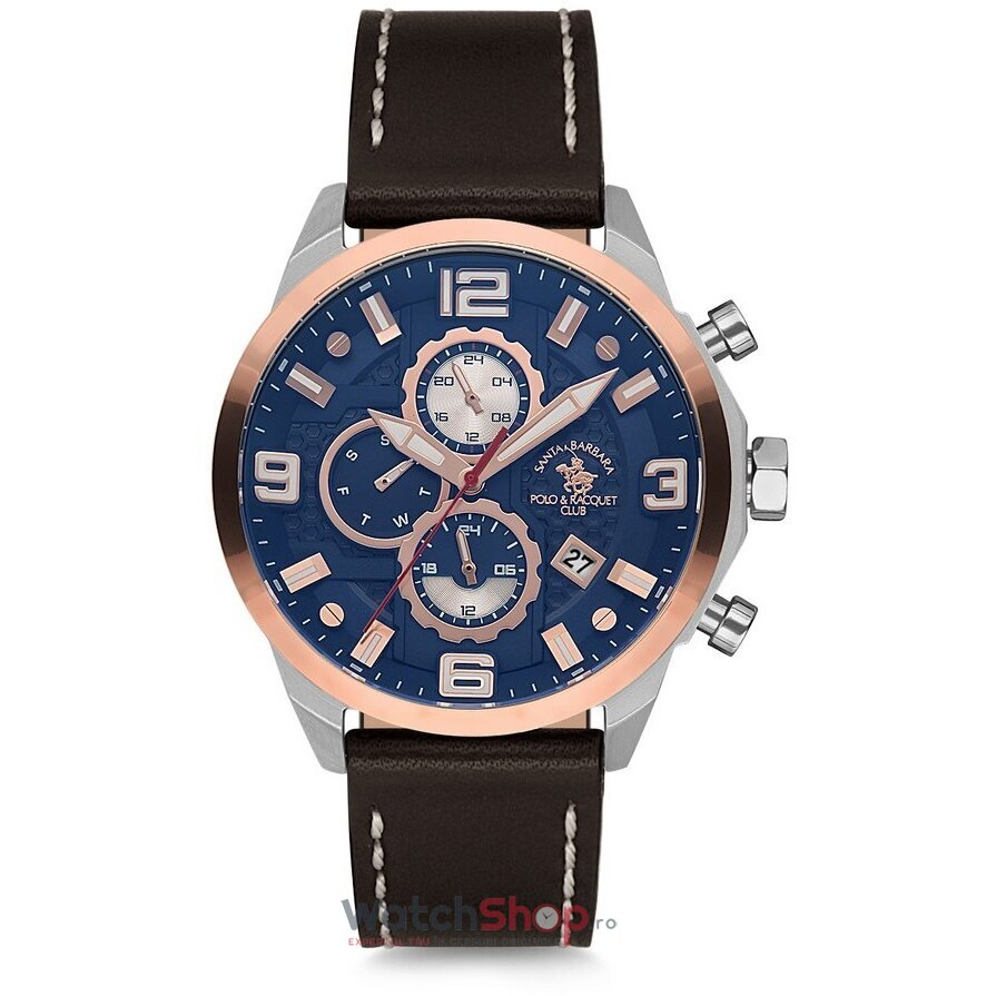 Ceas Santa Barbara Polo Legend SB.7.1143.5 Dual Time original barbatesc