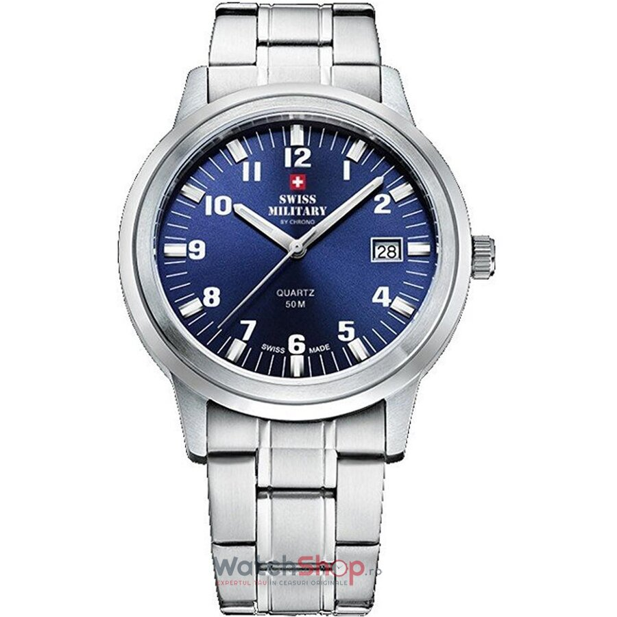 Ceas Swiss Military by CHRONO SMP36004.08 original barbatesc