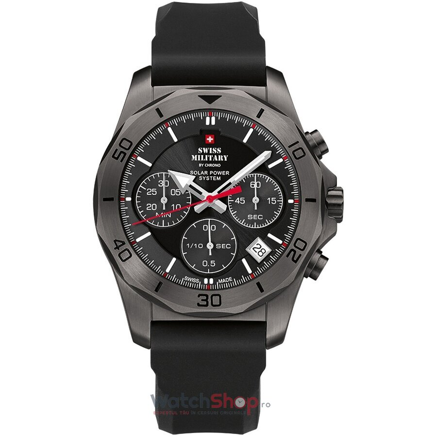 Ceas Swiss Military by Chrono SMS34072.07 Cronograf Solar barbatesc de mana