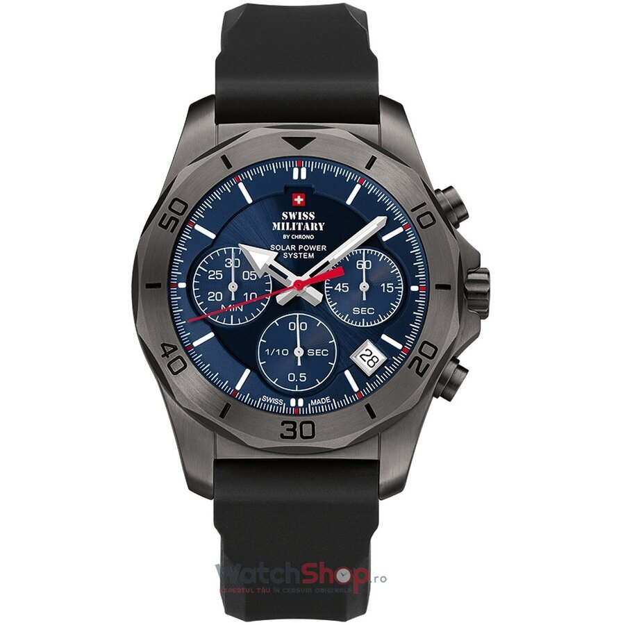 Ceas Swiss Military by Chrono SMS34072.08 Cronograf Solar barbatesc de mana