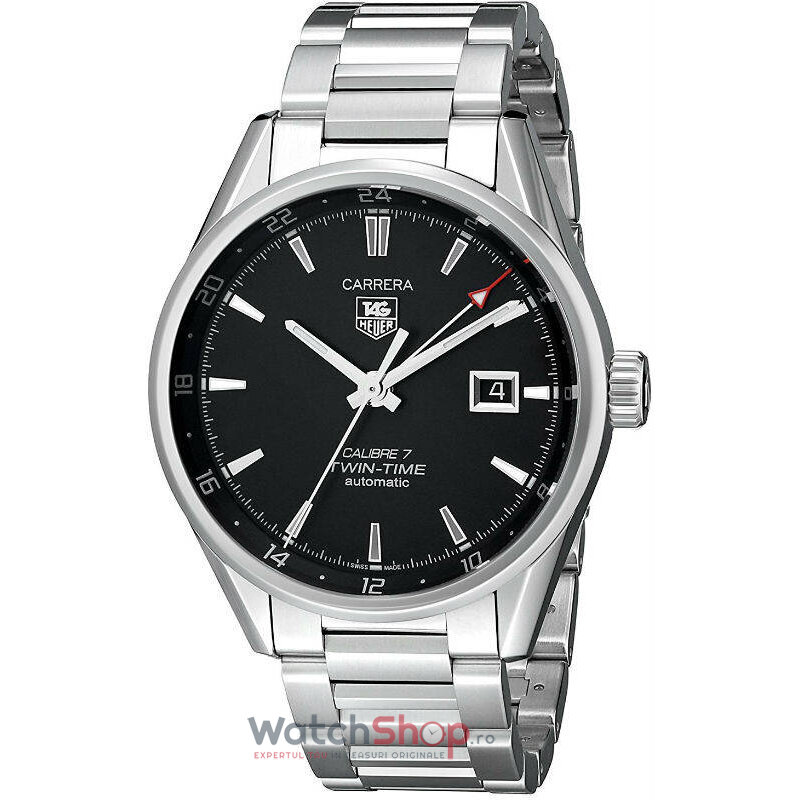 Ceas TAG Heuer CARRERA WAR2010.BA0723 Twin Time Lux barbatesc de mana