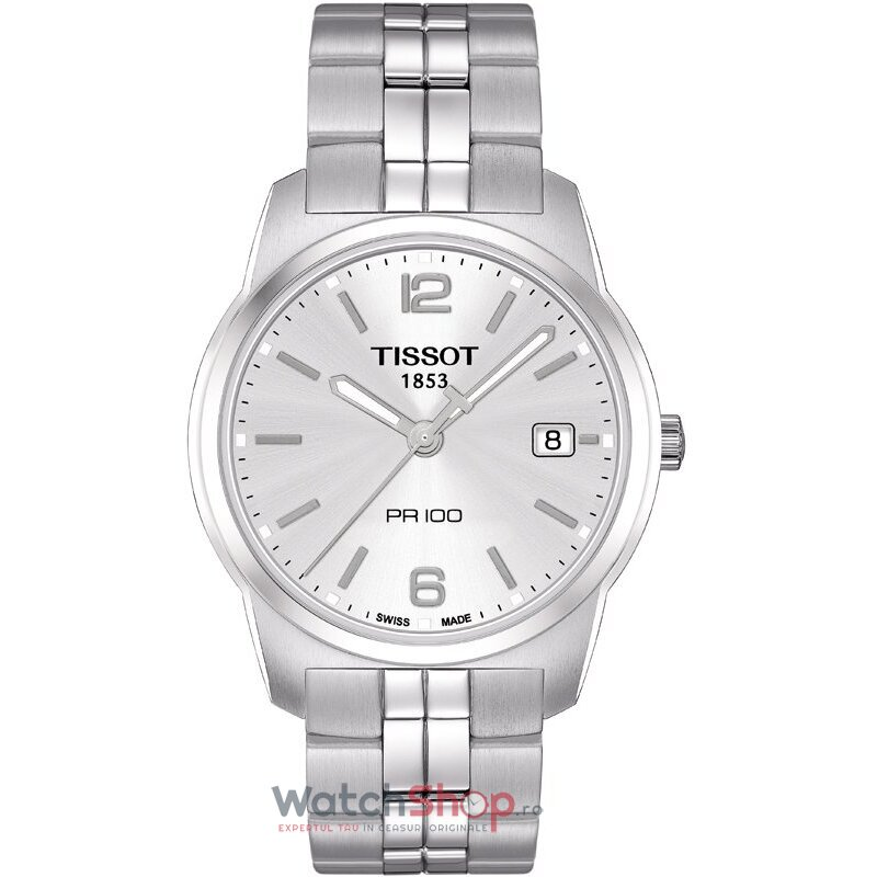 Ceas Tissot T-CLASSIC T049.410.11.037.01 PR 100 Silver barbatesc de mana