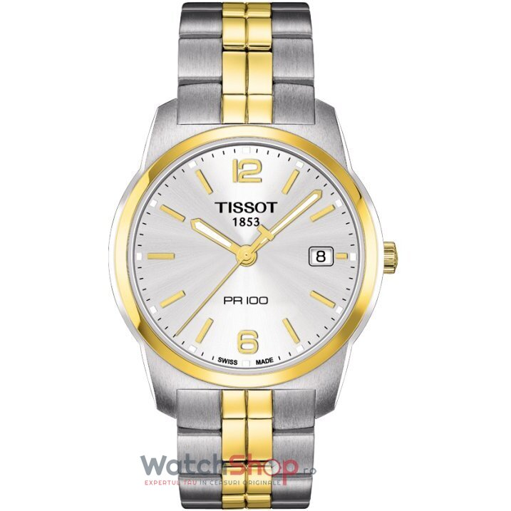 Ceas Tissot T-CLASSIC T049.410.22.037.01 PR 100 Silver barbatesc de mana