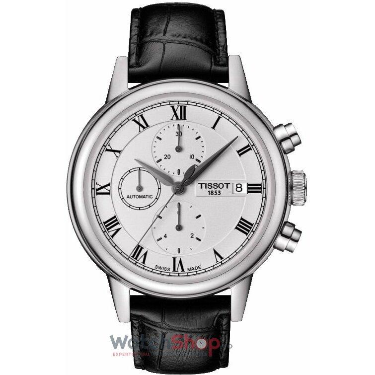 Ceas Tissot T-CLASSIC T085.427.16.013.00 Carson Automatic Cronograf barbatesc de mana