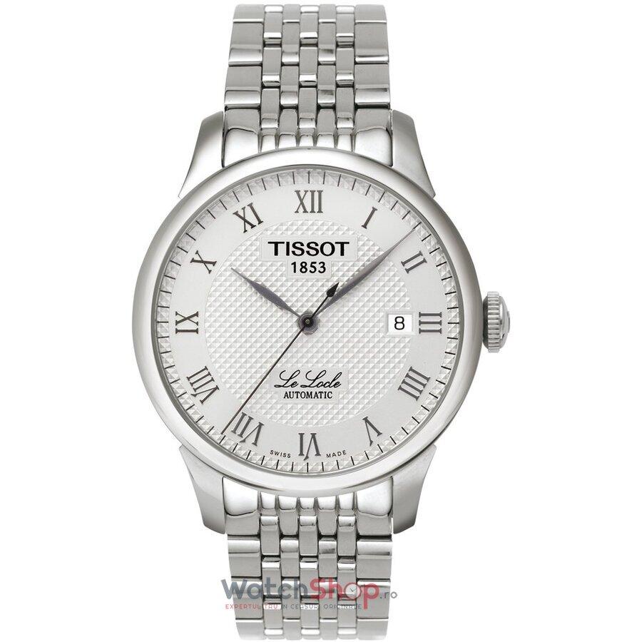 Ceas Tissot T-CLASSIC T41.1.483.33 Le Locle Silver barbatesc de mana