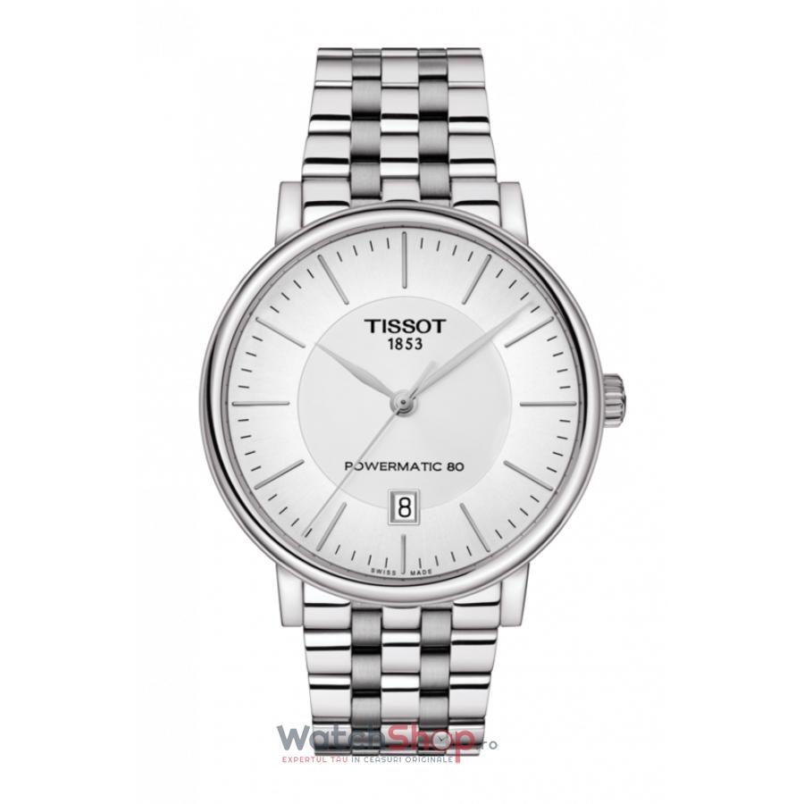 Ceas Tissot T-Classic Carson Premium T122.407.11.031.00 Powermatic 80 Automatic barbatesc de mana