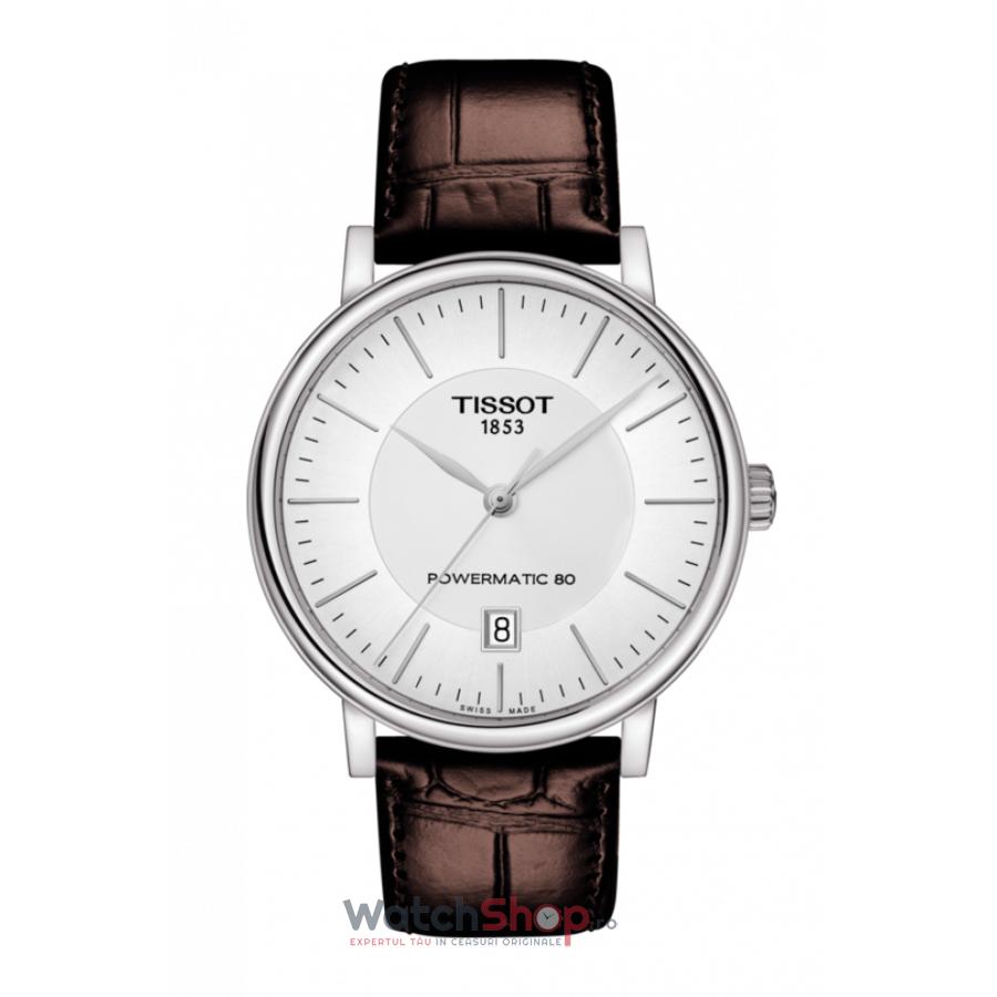 Ceas Tissot T-Classic Carson Premium T122.407.16.031.00 Powermatic 80 Automatic barbatesc de mana