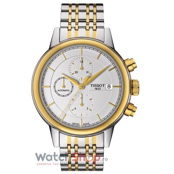 Ceas Tissot T-Classic Carson T085.427.22.011.00 Cronograf Automatic barbatesc de mana