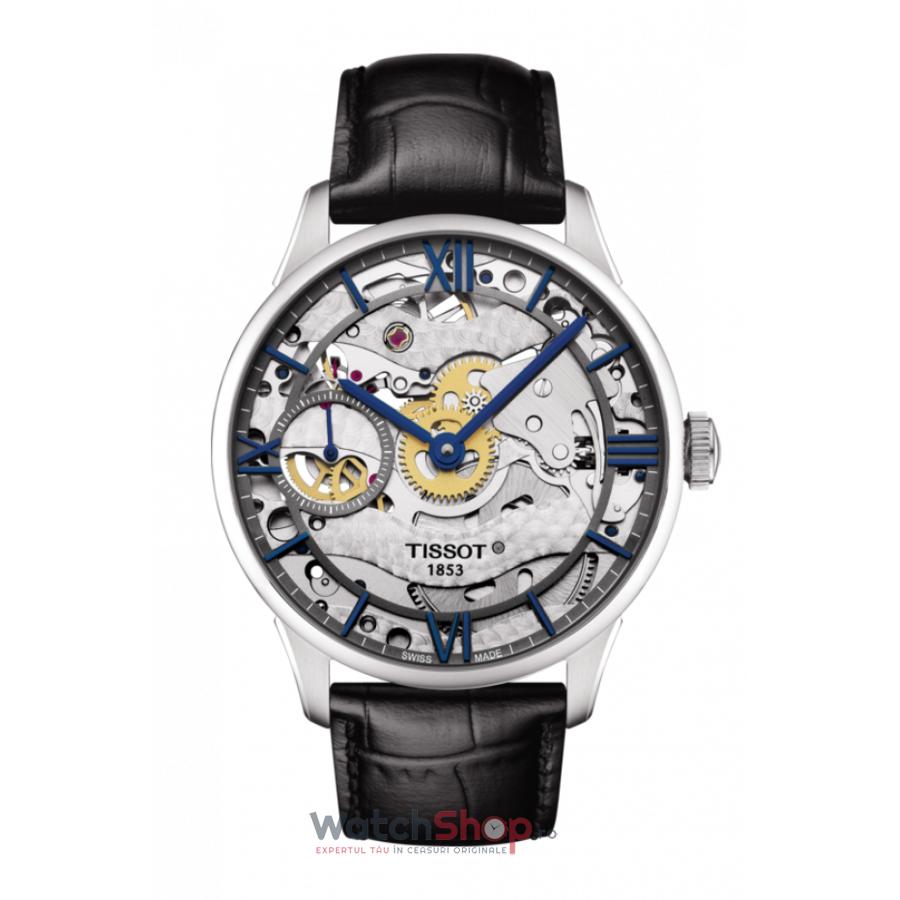 Ceas Tissot T-Classic Chemin des Tourelles T099.405.16.418.00 Skeleton Automatic barbatesc de mana