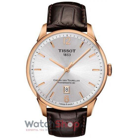 Ceas Tissot T-Classic Chemin des Tourelles T099.407.36.037.00 Powermatic 80 Automatic barbatesc de mana
