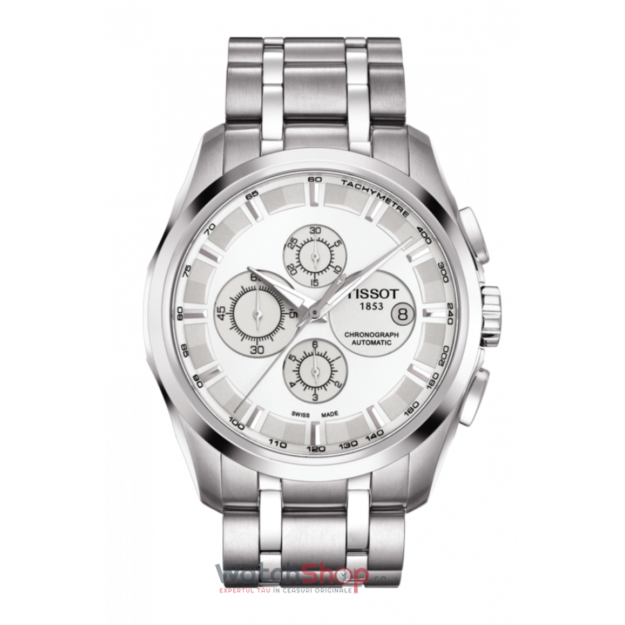 Ceas Tissot T-Classic Couturier T035.627.11.031.00 Cronograf Automatic barbatesc de mana