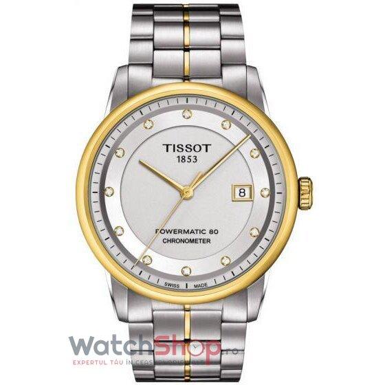 Ceas Tissot T-Classic Luxury T086.408.22.036.00 Powermatic 80 Automatic COSC barbatesc de mana