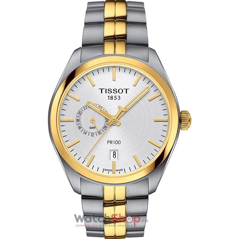 Ceas Tissot T-Classic PR 100 T101.452.22.031.00 Dual Time GMT barbatesc de mana