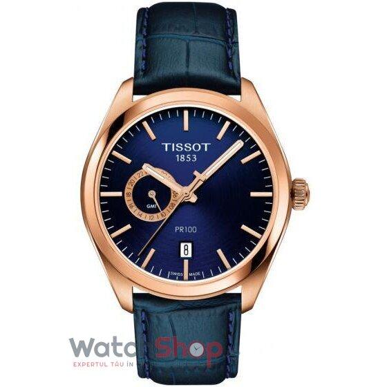 Ceas Tissot T-Classic PR 100 T101.452.36.041.00 Dual Time GMT barbatesc de mana
