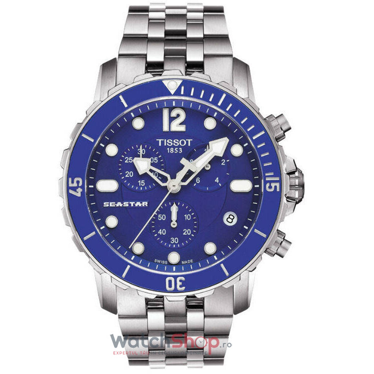 Ceas Tissot T-SPORT T066.417.11.047.00 Seastar 1000 Cronograf barbatesc de mana