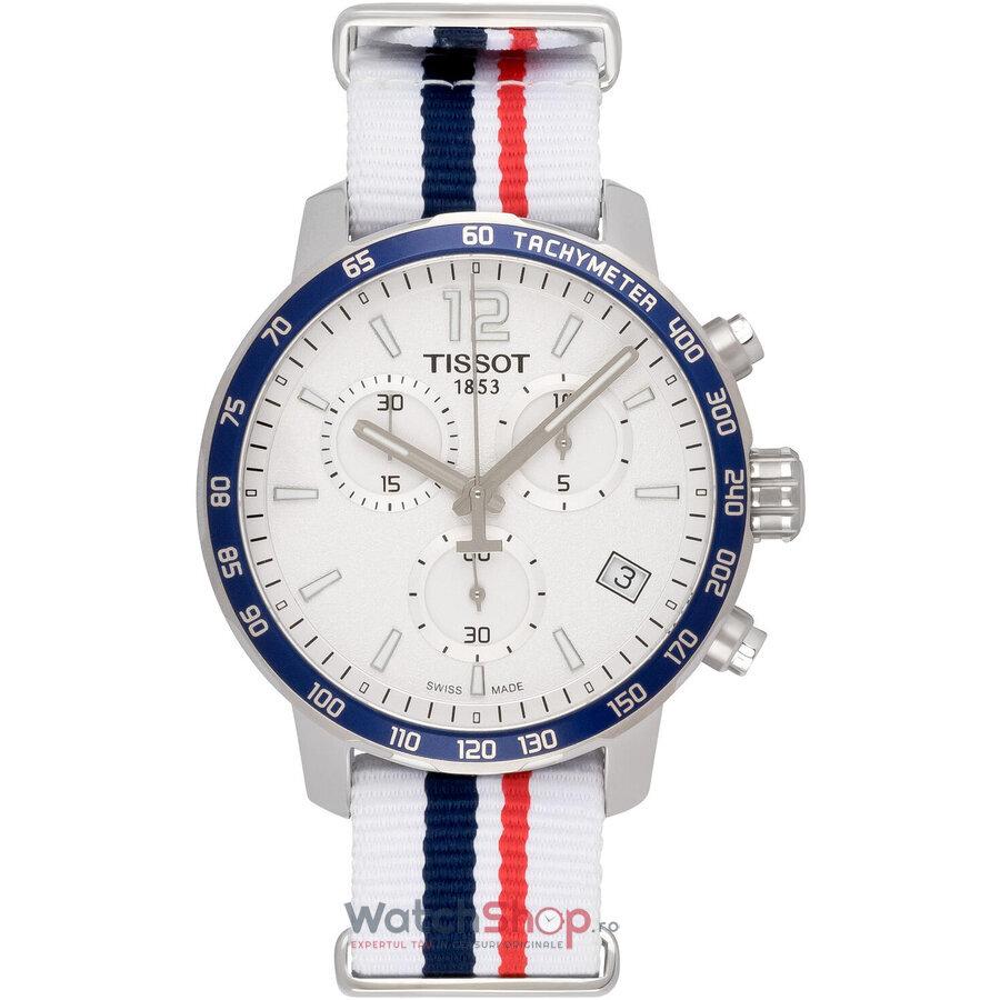Ceas Tissot T-Sport Nato T095.417.17.037.09 Quickster Cronograf barbatesc de mana