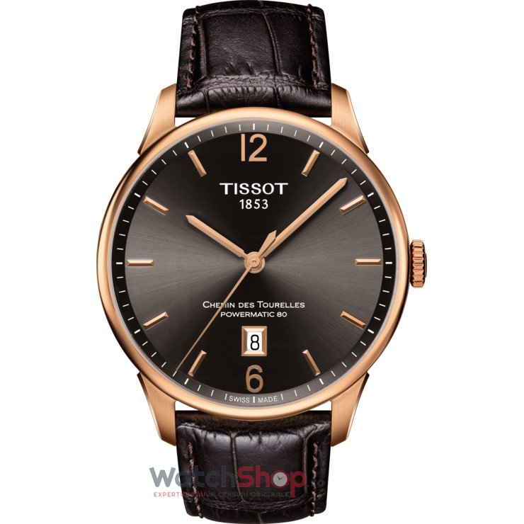 Ceas Tissot TISSOT CHEMIN DES TOURELLES POWERMATIC 80 T099.407.36.447.00 barbatesc de mana