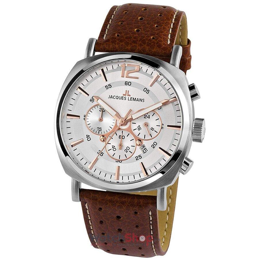 Ceas JacquesLemans Lugano 1-1645.1D Chronograph original pentru barbati