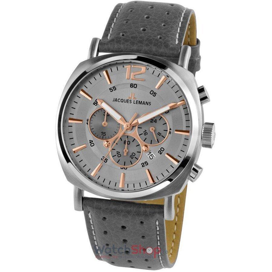 Ceas JacquesLemans Lugano 1-1645.1L Chronograph original pentru barbati