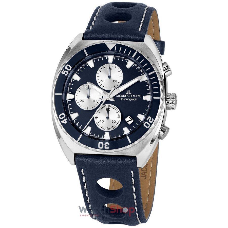 Ceas JacquesLemans Serie 200 1-2041C Chronograph original pentru barbati