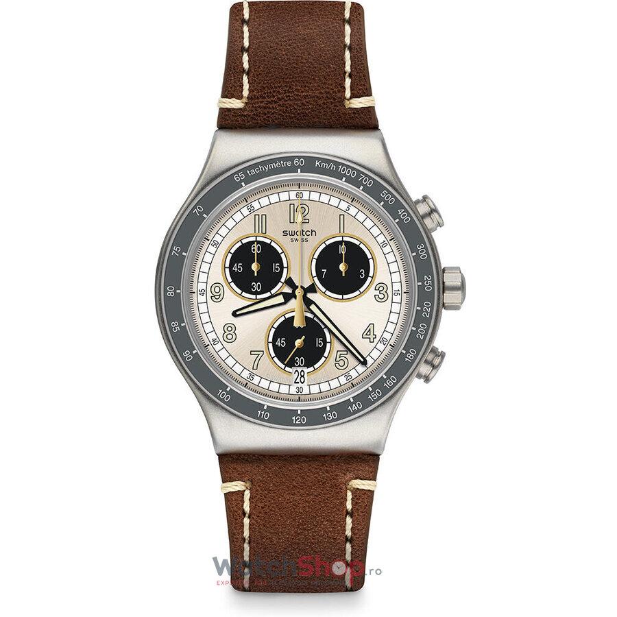 Ceas Swatch Irony YVS455 Rhum original pentru barbati